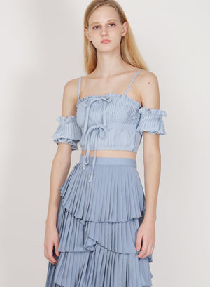 Muse Pleated Multi-way Top (Sky)