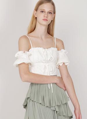 Muse Pleated Multi-way Top (White)