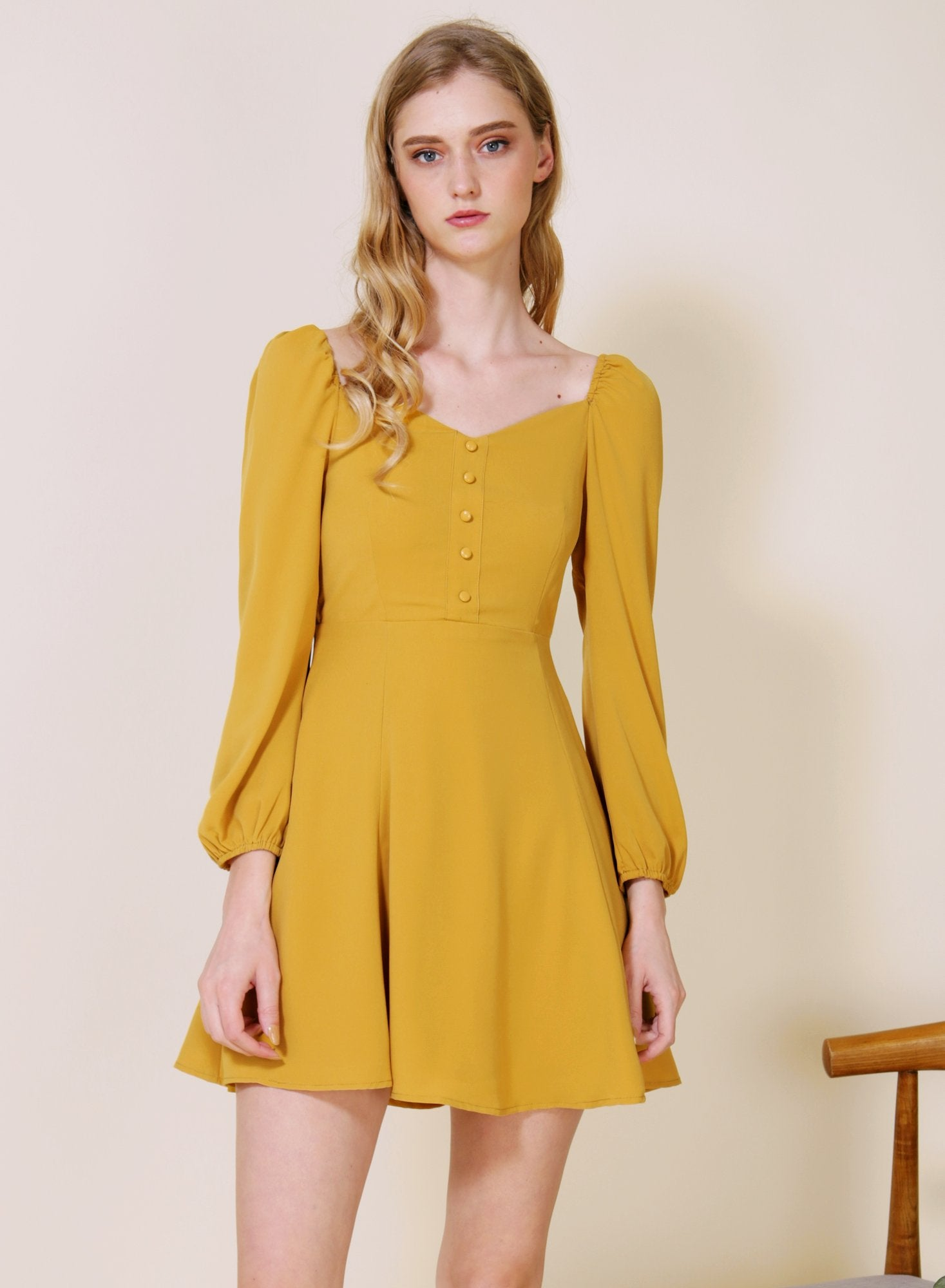 Archive: Moonchild Long Sleeved Flared Dress (Marigold)