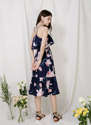 Archive: Wildflower Double Tiers Midi Dress (Floral)