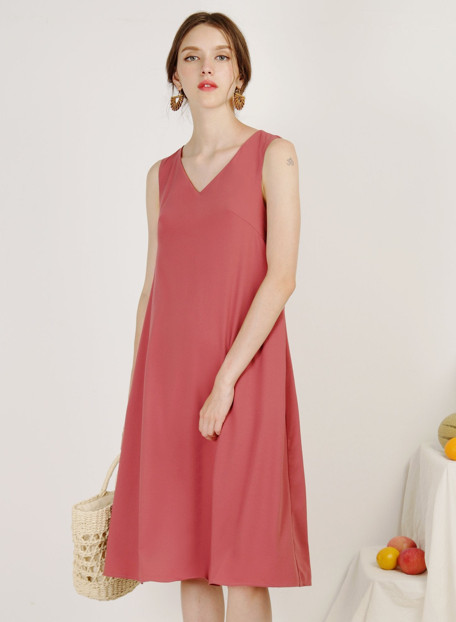 Archive: Tropics Tie Back Swing Dress (Guava)