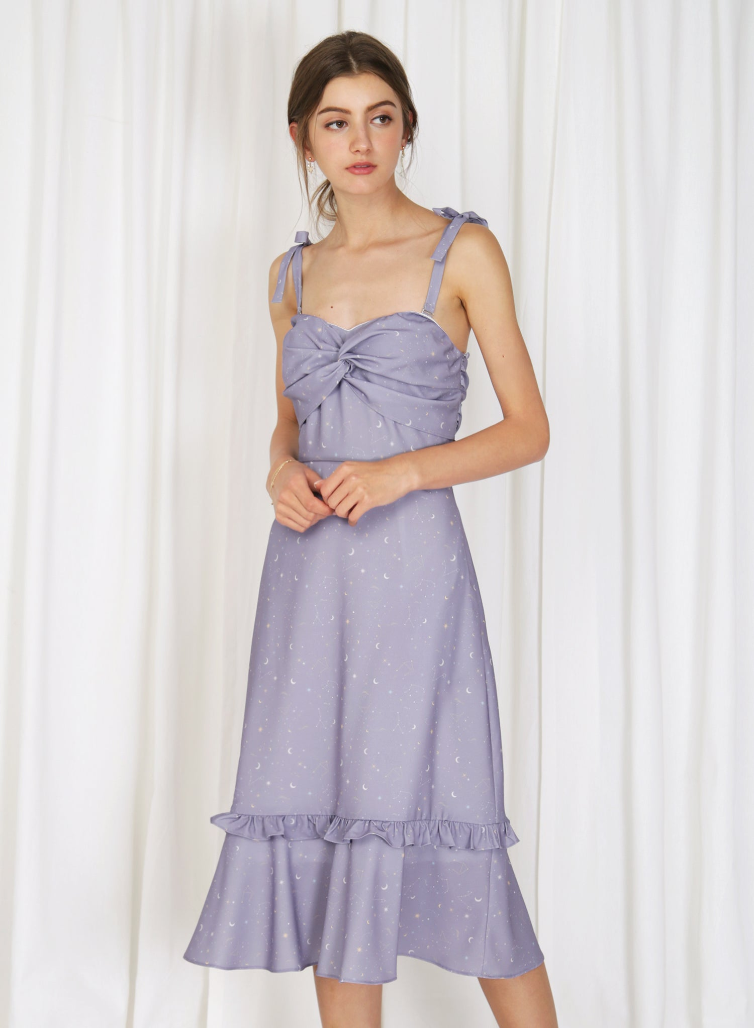Luna Twist Front Multi-way Dress (Periwinkle)