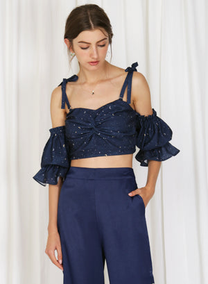 Luna Twist Front Multi-way Bustier (Navy)