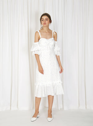 Luna Twist Front Multi-way Dress (White)