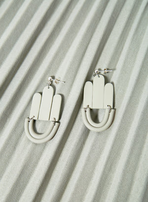 Art Deco Drop Earrings (Sage)