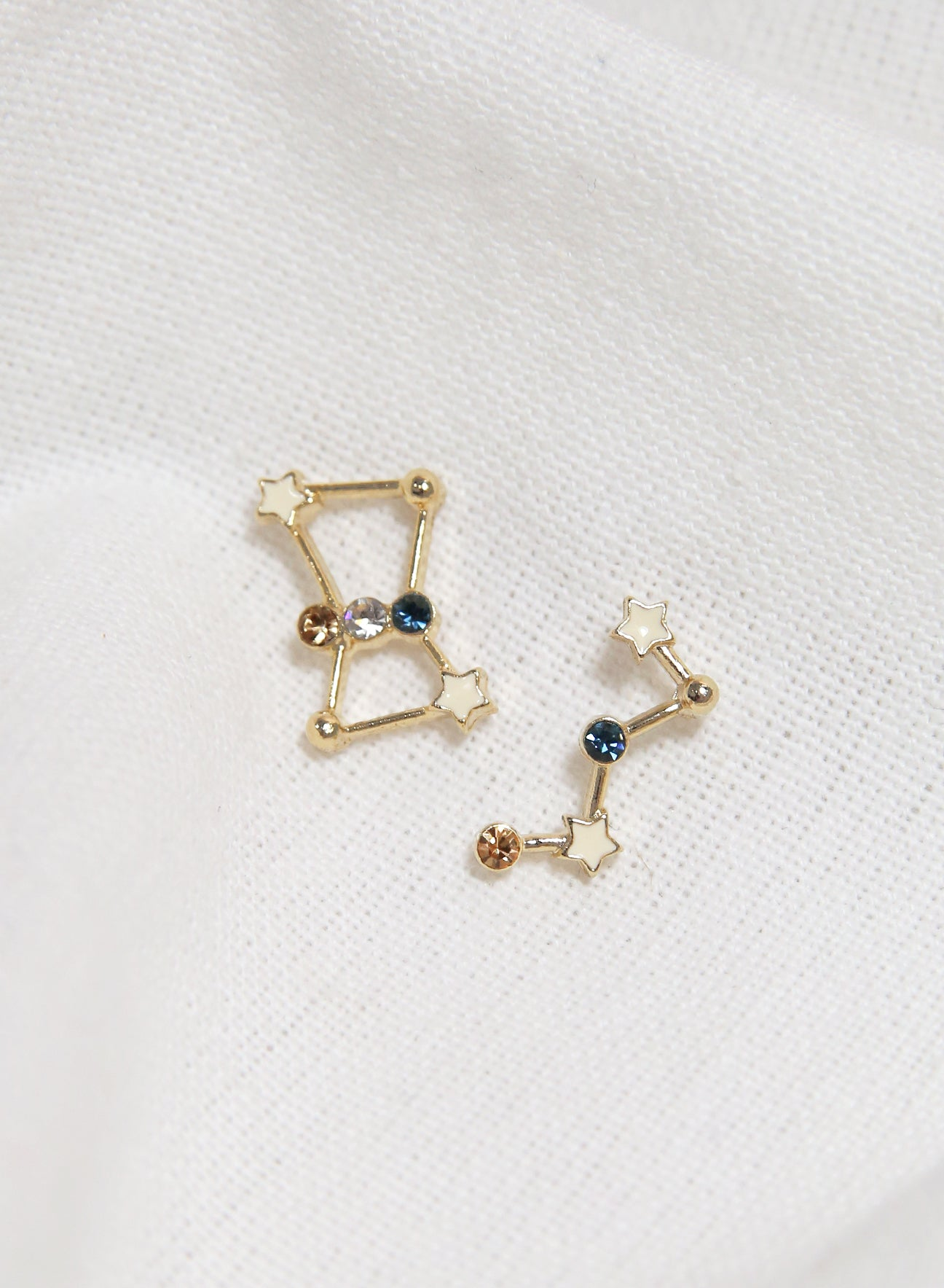 Cassiopeia Constellation Earrings