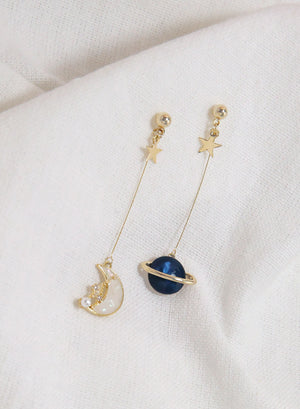 Celestial Gold Drop Earrings