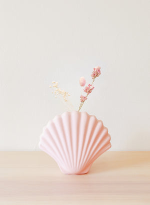 Blush Ceramic Shell Vase