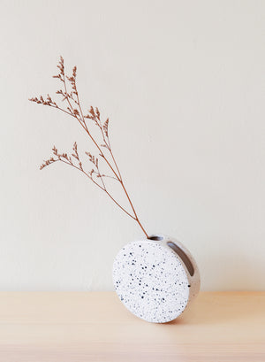 Round Speckled Small Vase
