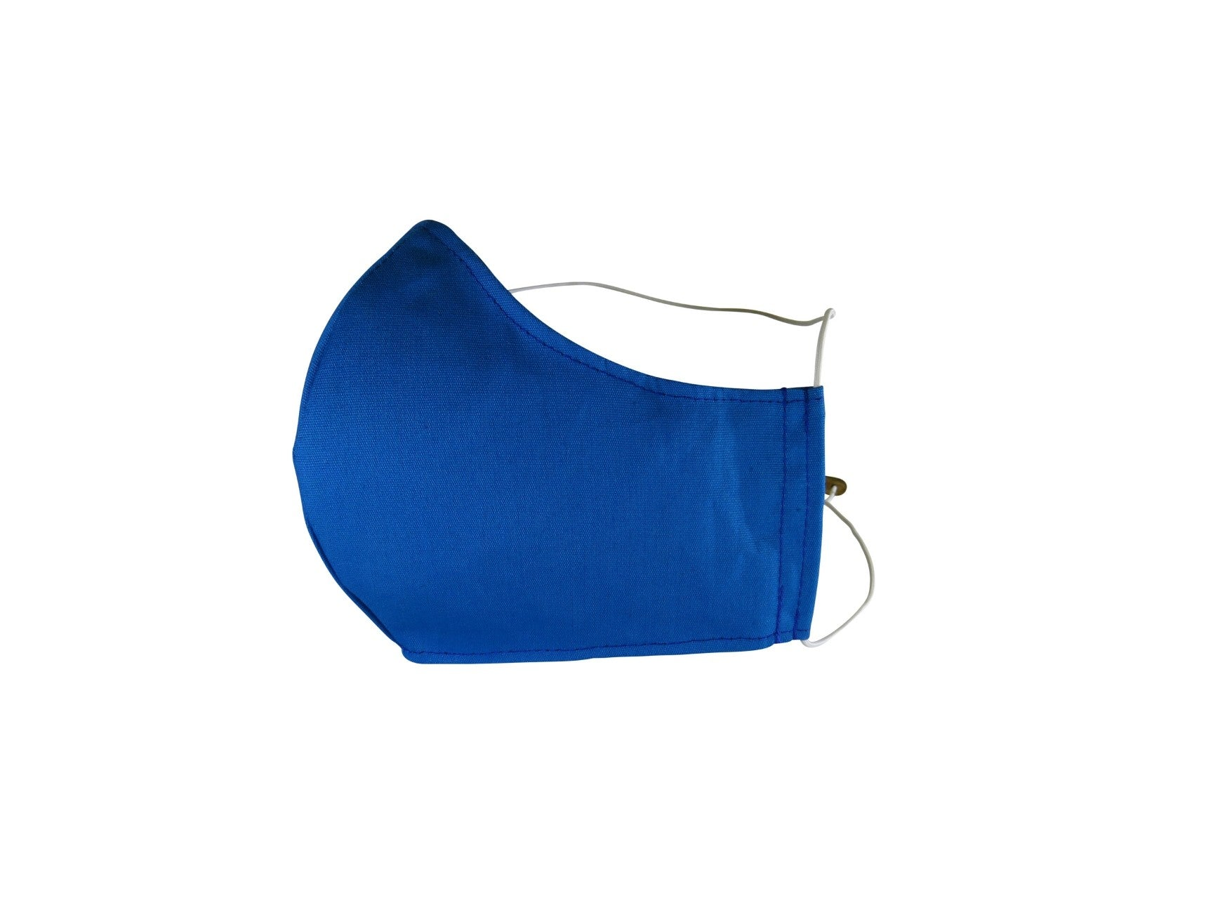 Plain Reusable Fabric Face Mask - Azure