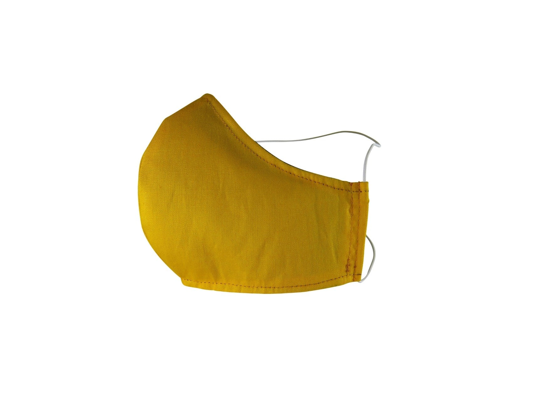 Plain Reusable Fabric Face Mask - Ochre