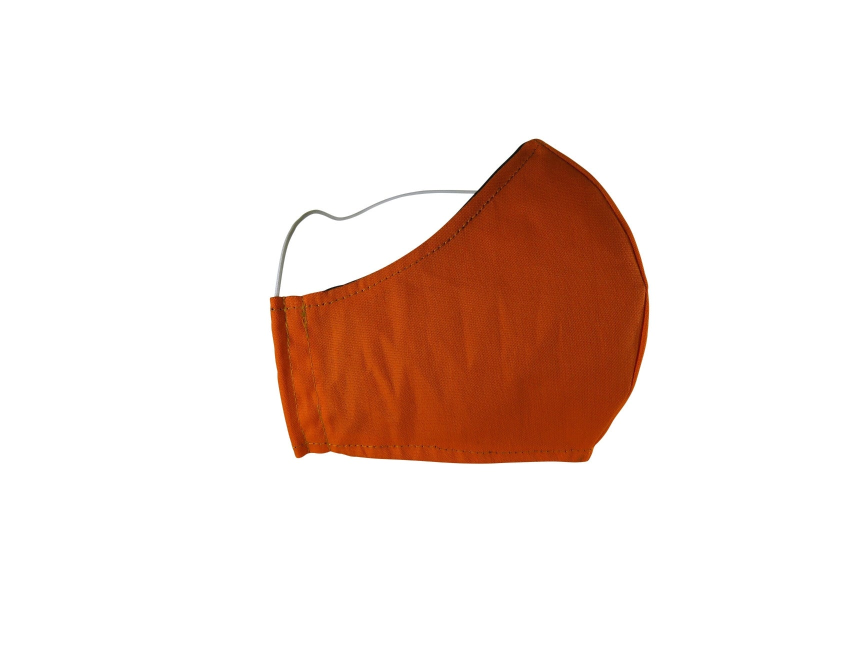 Plain Reusable Fabric Face Mask - Pumpkin