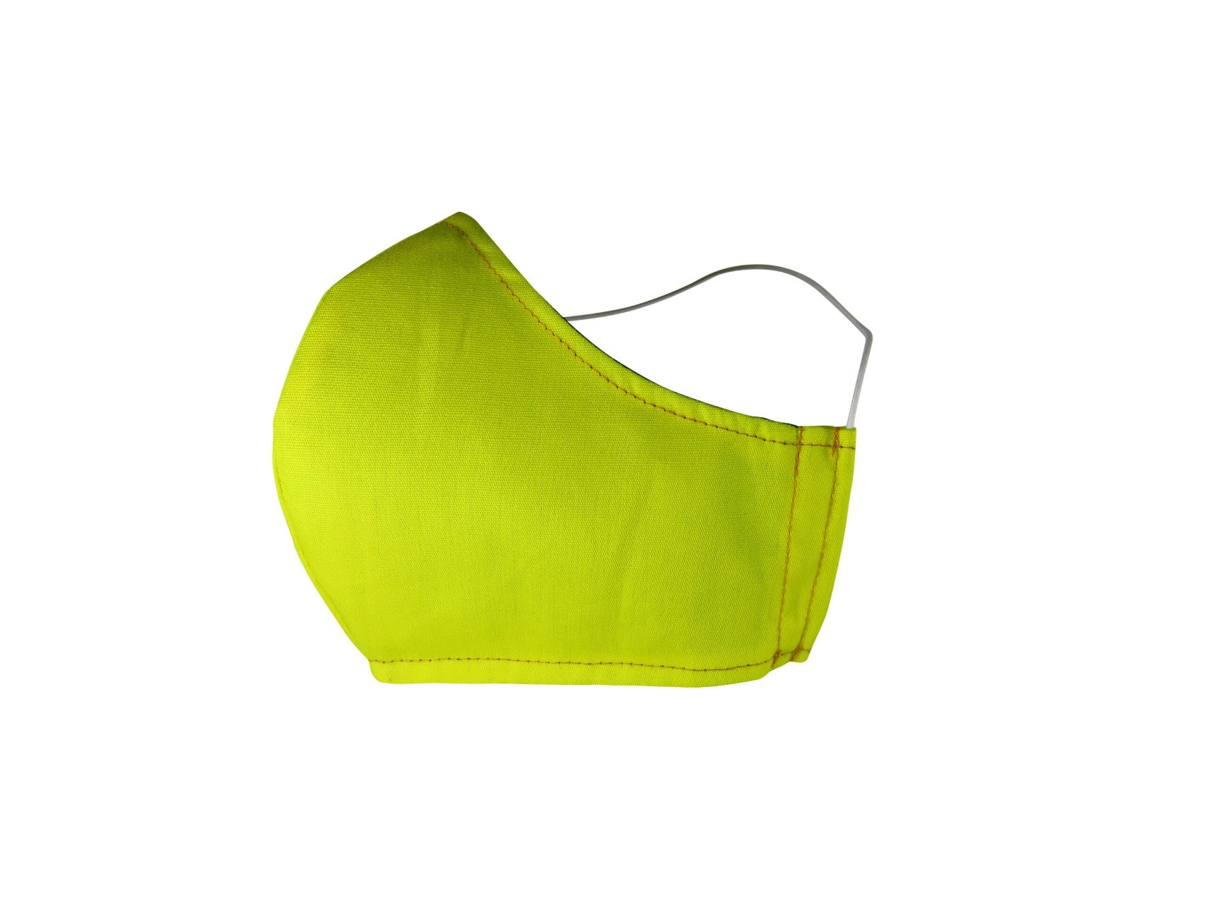 Plain Reusable Fabric Face Mask - Lemon