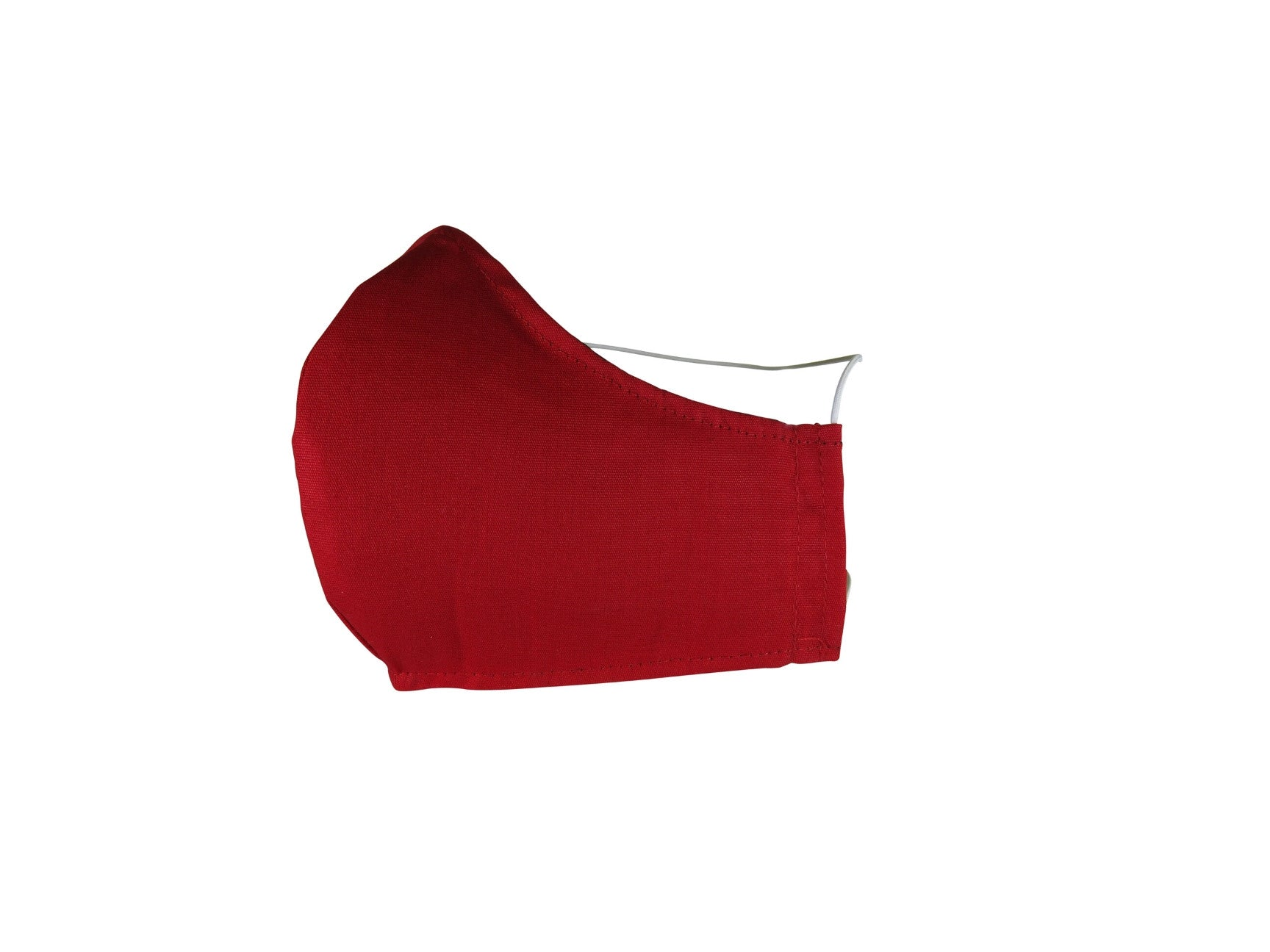 Plain Reusable Fabric Face Mask - Crimson