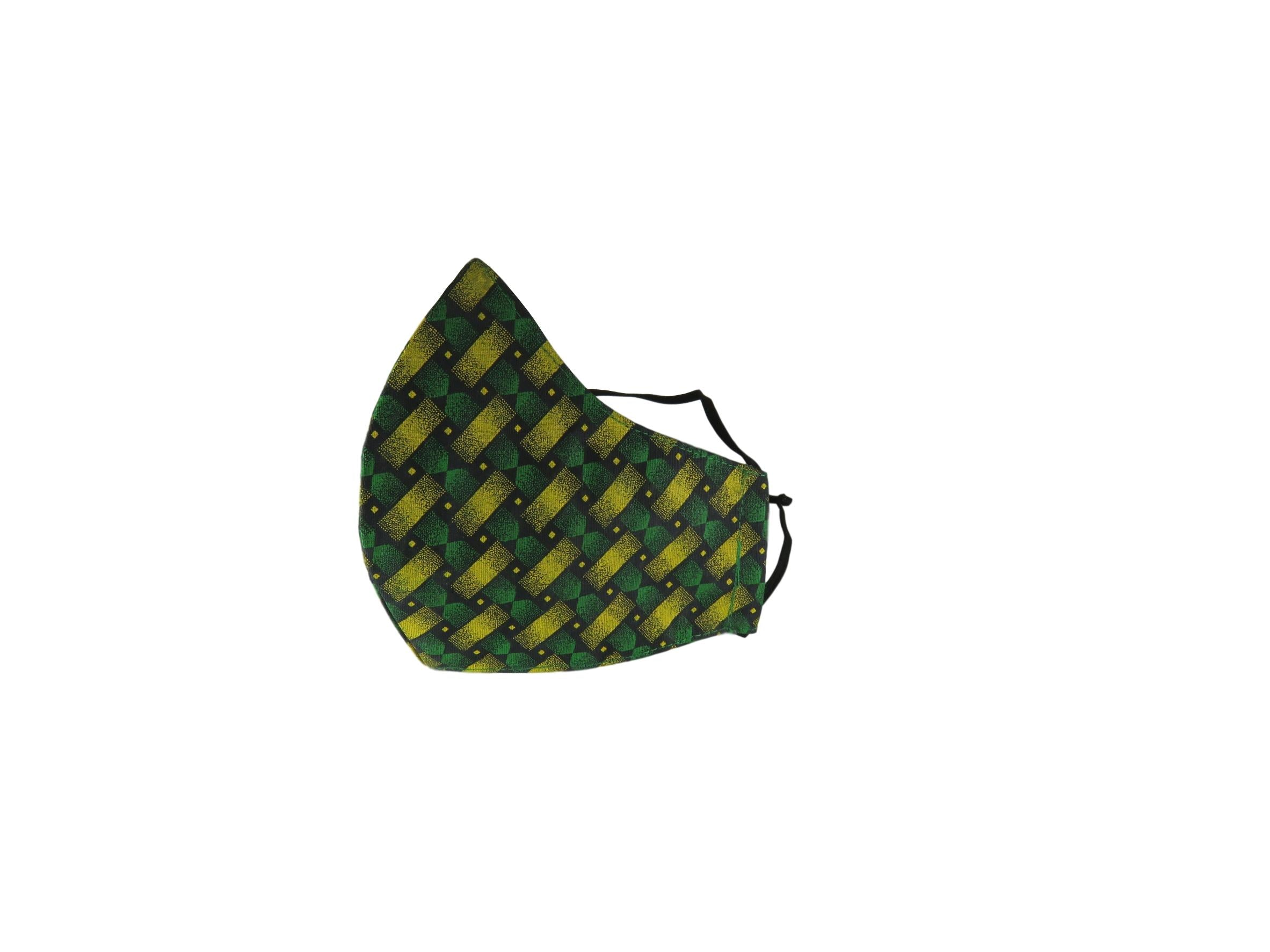 ShweShwe Reusable Fabric Face Masks -Green Patterns