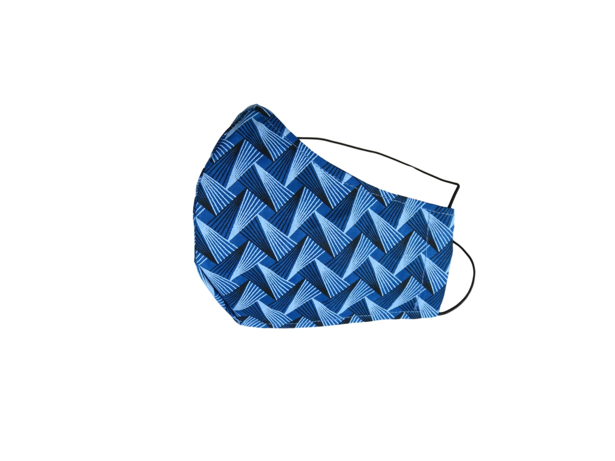 ShweShwe Reusable Fabric Face Masks -Blue Patterns