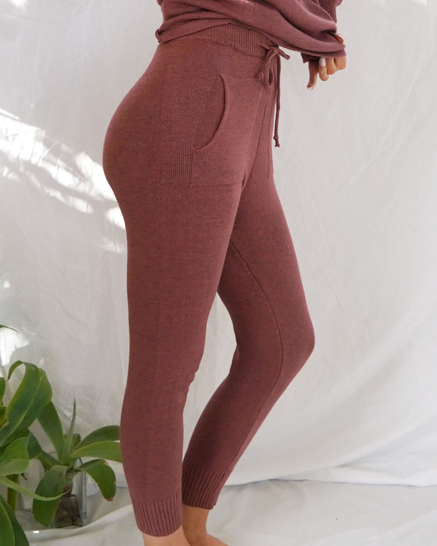 Demi Pink Knit Pants