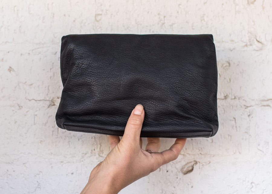 Jazlyn Leather Bag Black