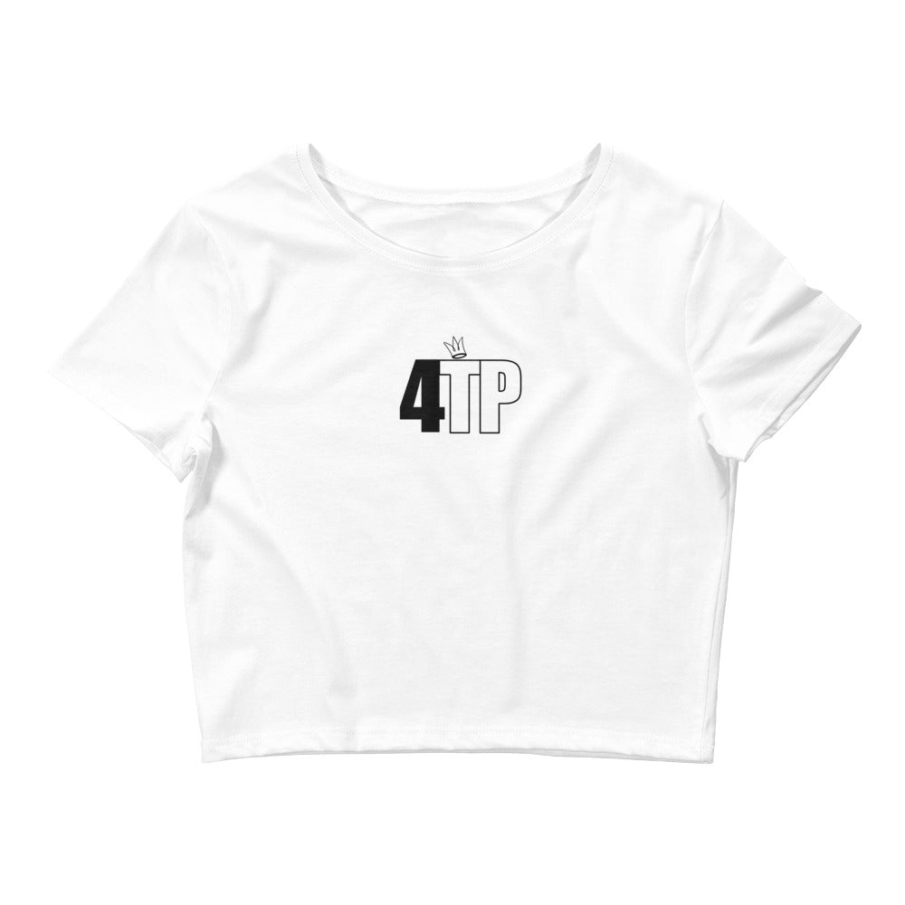 Womens's 'White' Crop tee