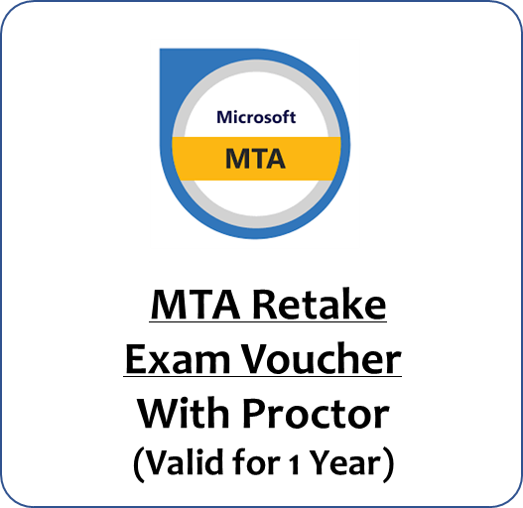 MTA Retake Exam Voucher with Proctor