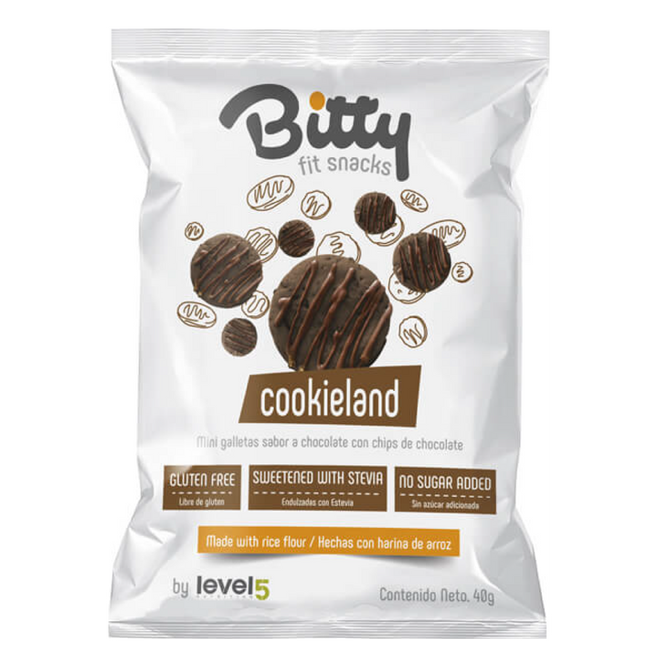 Mini Galletas de Chocolate con Cobertura de Chocolate 40 gr. -BITTY-