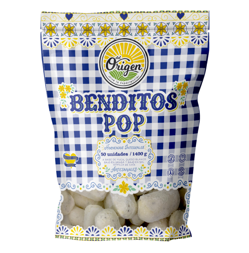 Deditos de Queso Benditos Pop x 50 U. -DEL ORIGEN-