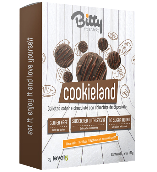 Caja Mini Galletas Chocolate con Cobertura de Chocolate x 160 gr. -BITTY-