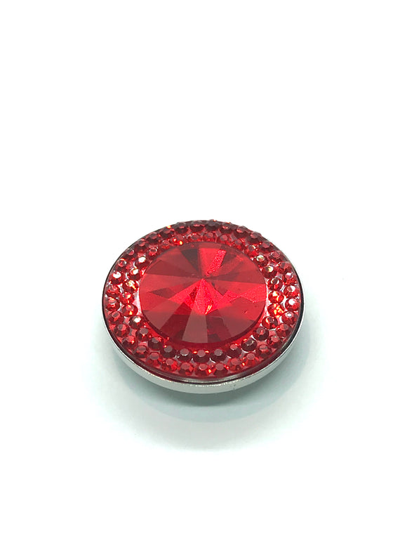 Sparkly Red Resin 20mm Snap