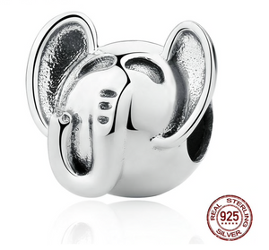 Lucky Elephant Sterling Silver European Charm