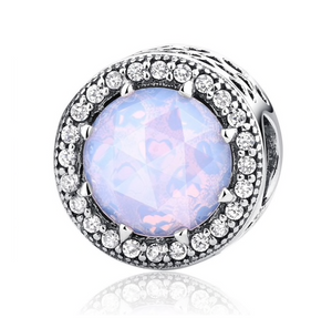 """Opal"" Sterling Silver Simply Radiant Charm"