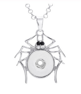 Itsy Bitsy Spider Snap Pendant Necklace (Fits 20mm Snap Charms)