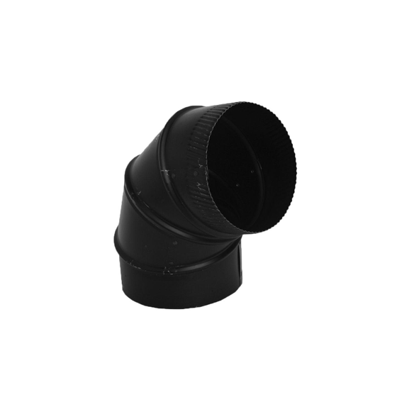 28ga Black Single Wall Flue Elbow - tinylifesupply.com