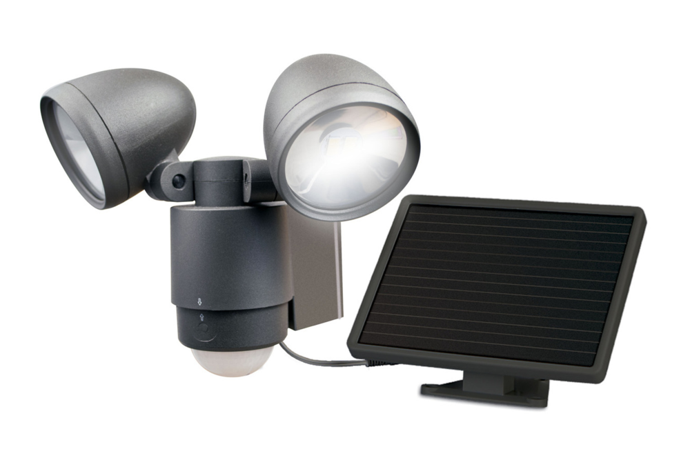 Maxsa Solar Dual Head LED Spotlight - tinylifesupply.com