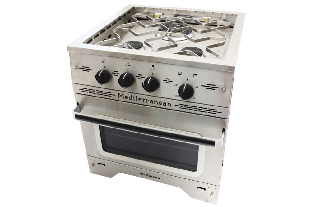 Dickinson Mediterranean Three Burner Gas Stove - tinylifesupply.com