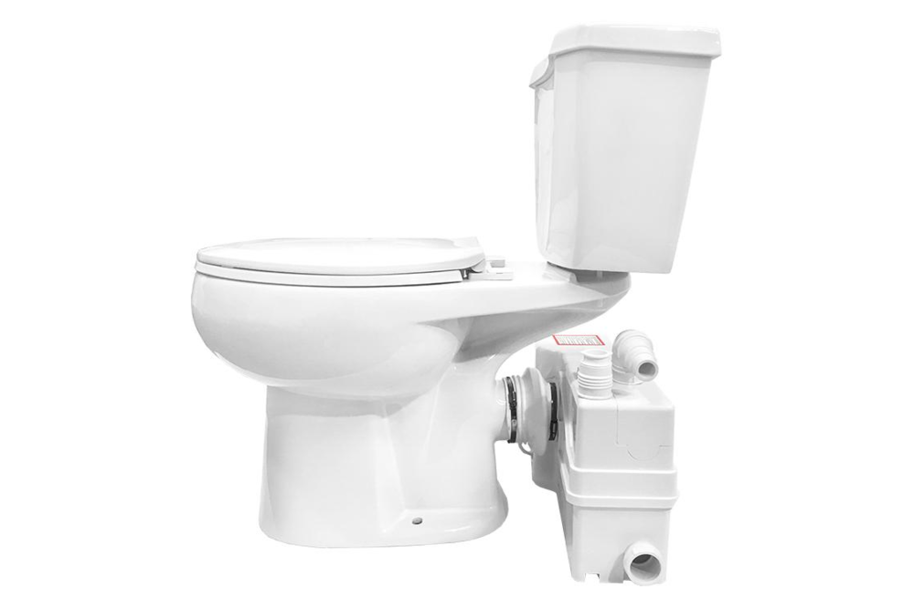 Lift Assure Elongated Macerating Toilet Kit - tinylifesupply.com