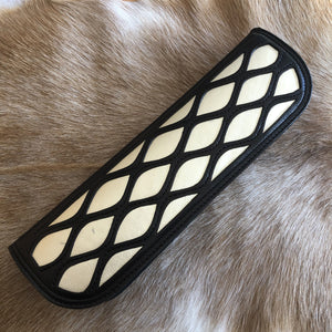 Platinum Calfskin Lattice Inlay Case