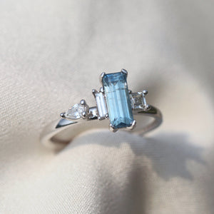 Ring $19,200 Emerald Cut Sapphire & Diamonds Ring (Pay $1000 deposit to reserve this item) Cabinetofcuriosityjewellery