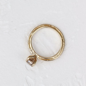 Ring Double Loop Ring - Flat with mainstone (additional charges may apply) Cabinetofcuriosityjewellery