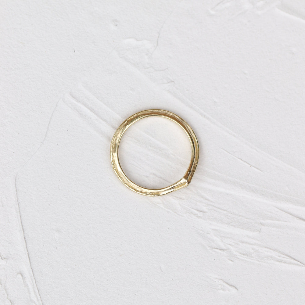 Ring Double Loop Ring - V shape Cabinetofcuriosityjewellery