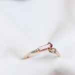 Long Baguette Tourmaline Stackable Ring