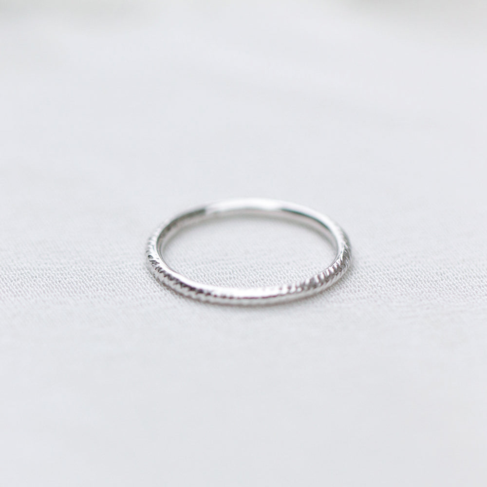 Load image into Gallery viewer, Textured Stackable Ring - Cabinetofcuriosityjewellery