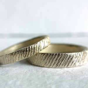Load image into Gallery viewer, Textured Wedding Bands - Cabinetofcuriosityjewellery
