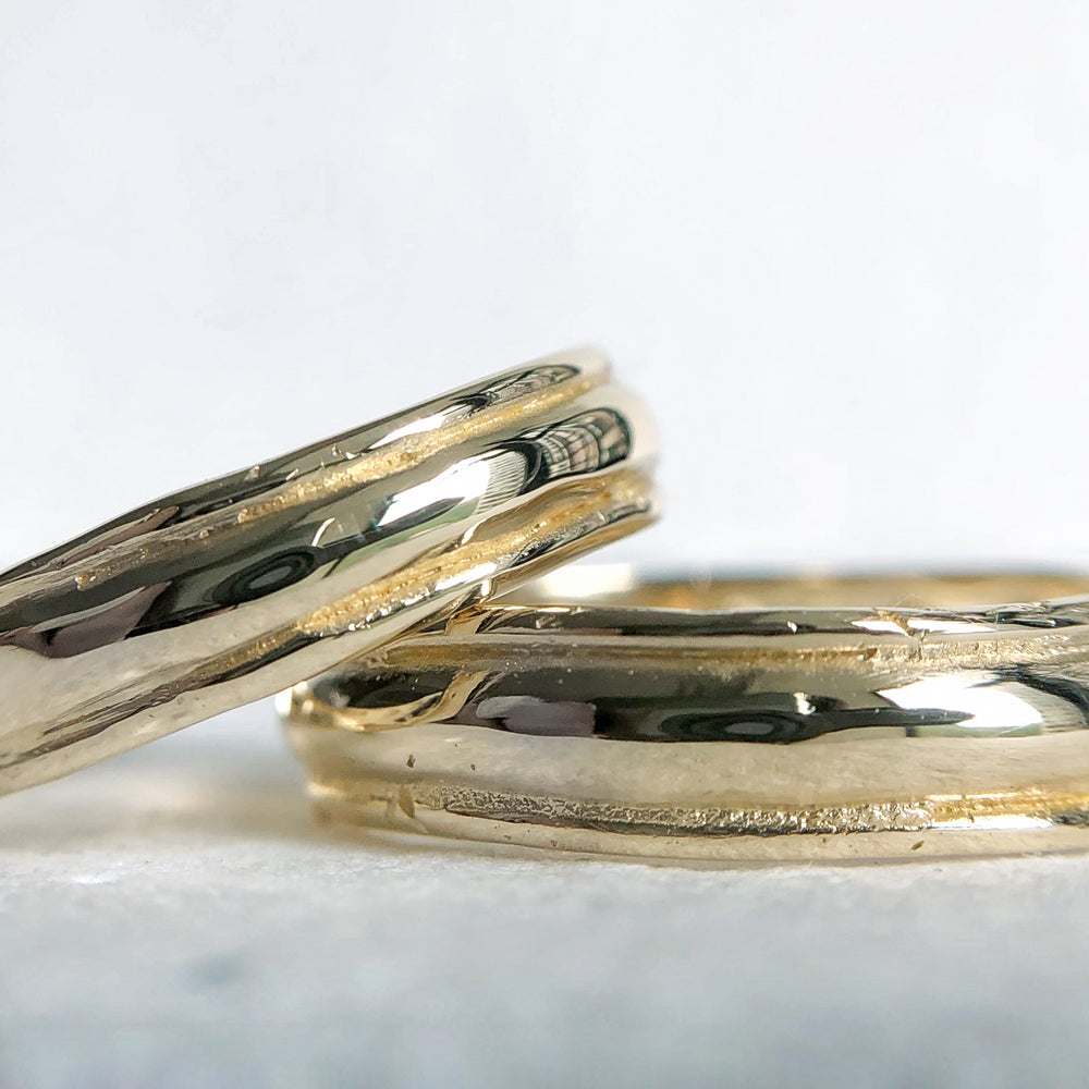 Lined Wedding Bands