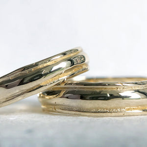 Lined Wedding Bands - Cabinetofcuriosityjewellery