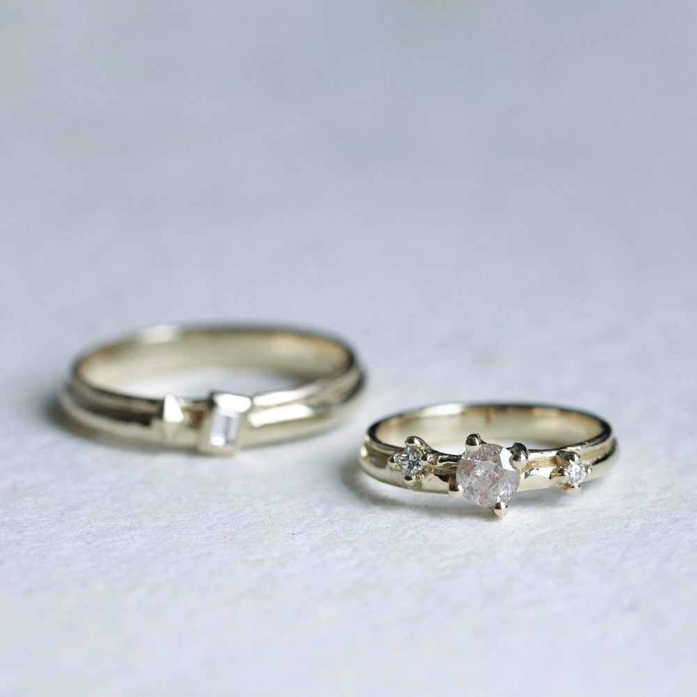 Load image into Gallery viewer, Diamond Wedding Bands - Cabinetofcuriosityjewellery
