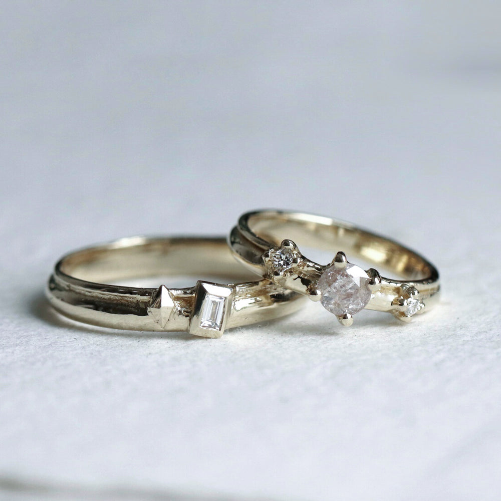 Diamond Wedding Bands - Cabinetofcuriosityjewellery