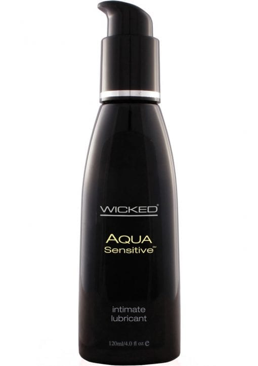 Wicked Aqua Sensitive Water-Based Unscented Lubricant - 4 ounces