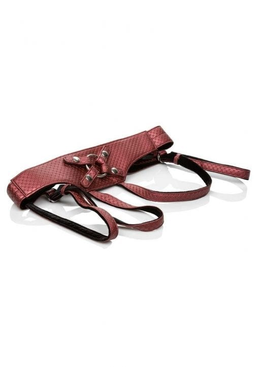 The Regal Empress: Crotchless Vegan Leather Adjustable Harness