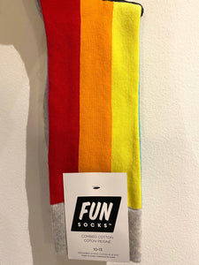 FUN Socks - Men's Rainbow Stripe