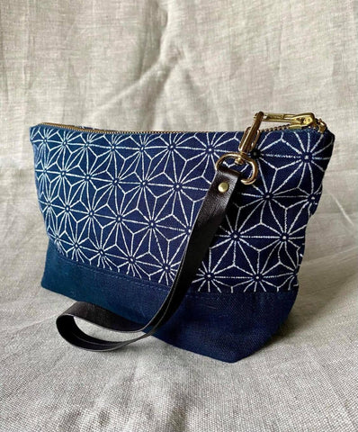 Anita Sachi - Fabric Clutch in Indigo Stars